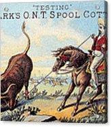 Cotton Thread Trade Card Acrylic Print by Granger