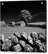 Countryside Beneath Slieve Binnian In The Mourne Mountains Northern Ireland Acrylic Print by Joe Fox