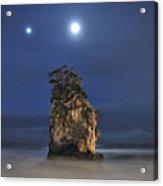 Couple Of Jovian And Lunar Lights Acrylic Print by Dr. Akira TAKAUE / Dr. GEIST