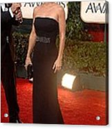 Courteney Cox Wearing A Victoria Acrylic Print by Everett