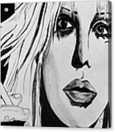 Courtney Love Acrylic Print by Cat Jackson