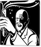 Crazy Mad Scientist Test Tube Acrylic Print by Aloysius Patrimonio