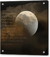 Cresent Moon  Acrylic Print by Joseph G Holland