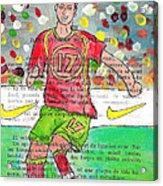 Cristiano Ronaldo Acrylic Print by Jera Sky