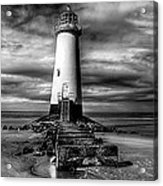 Crooked Lighthouse Acrylic Print by Adrian Evans