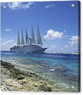 Cruise Ship Acrylic Print by Alexis Rosenfeld