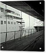 Cruise Ships Acrylic Print by Dean Harte