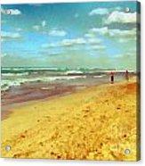 Cuba Beach Acrylic Print by Odon Czintos