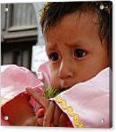 Cuenca Kids 4 Acrylic Print by Al Bourassa