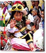 Cuenca Kids 49 Acrylic Print by Al Bourassa