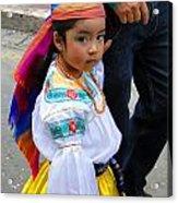Cuenca Kids 5 Acrylic Print by Al Bourassa