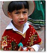 Cuenca Kids 54 Acrylic Print by Al Bourassa