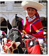Cuenca Kids 62 Acrylic Print by Al Bourassa