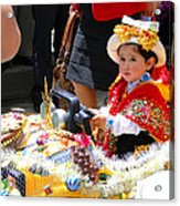 Cuenca Kids 65 Acrylic Print by Al Bourassa