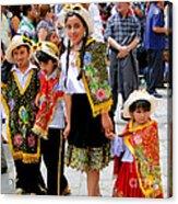 Cuenca Kids 80 Acrylic Print by Al Bourassa