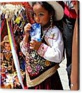 Cuenca Kids 97 Acrylic Print by Al Bourassa