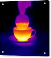 Cup Of Tea, Thermogram Acrylic Print by Tony Mcconnell