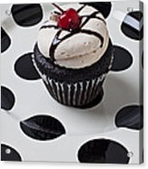 Cupcake With Cherry Acrylic Print by Garry Gay