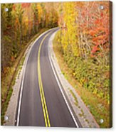 Curvy Road Blue Ridge Parkway, North Carolina Acrylic Print by Lightvision, LLC