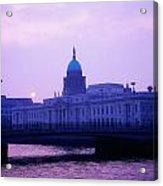 Custom House, Dublin, Co Dublin, Ireland Acrylic Print by The Irish Image Collection