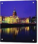 Custom House, Dublin, Co Dublin Acrylic Print by The Irish Image Collection