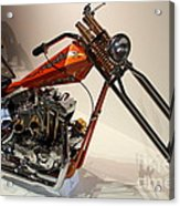 Custom Motorcycle Chopper . 7d13319 Acrylic Print by Wingsdomain Art and Photography