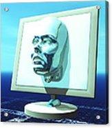 Cyber Personality Acrylic Print by Laguna Design