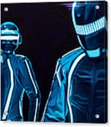 Daft Punk Acrylic Print by Ellen Patton