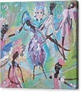 Dame Harmony Pantomime Acrylic Print by Judith Desrosiers