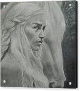 Danaerys And The Silver Acrylic Print by Glenn Daniels