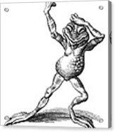 Dancing Frog, Conceptual Artwork Acrylic Print by Bill Sanderson