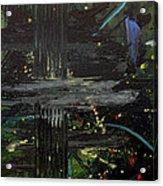 Dark Space Acrylic Print by Ethel Vrana