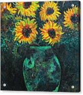 Darkened Sun Acrylic Print by Carrie Jackson