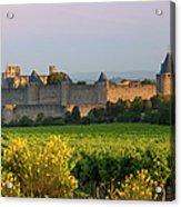 Dawn In Carcassonne Acrylic Print by Brian Jannsen