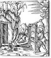 De Re Metallica, Bellows, 16th Century Acrylic Print by Science Source