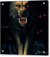 Demon Wolf Acrylic Print by MGL Studio - Chris Hiett