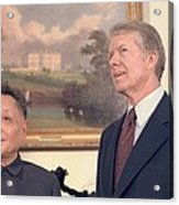 Deng Xiaoping And Jimmy Carter Acrylic Print by Everett