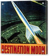 Destination Moon, 1950 Acrylic Print by Everett