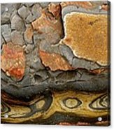 Detail Of Eroded Rocks Swirled Acrylic Print by Charles Kogod