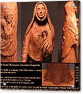 Details Of Symbols On Saint Rose Philippine Duchesne Sculpture. Acrylic Print by Adam Long