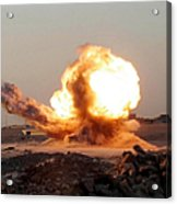Detonation Of A Weapons Cache Acrylic Print by Stocktrek Images