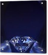 Diamond In Deep-blue Light Acrylic Print by Atiketta Sangasaeng