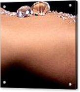 Diamonds On A Womans Stomach Acrylic Print by Richard Thomas