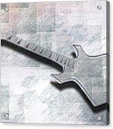 Digital-art E-guitar IIi Acrylic Print by Melanie Viola