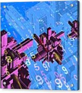 Digital Communication, Conceptual Image Acrylic Print by Victor Habbick Visions