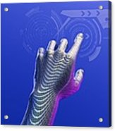 Digital Touchscreen, Artwork Acrylic Print by Victor Habbick Visions