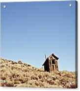Dilapidated Outhouse On Hillside Acrylic Print by Eddy Joaquim