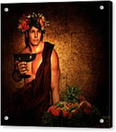 Dionysus Acrylic Print by Lourry Legarde