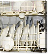 Dishes In A Dishwasher Acrylic Print by David Buffington