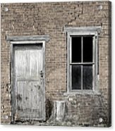 Distressed Facade Acrylic Print by John Stephens